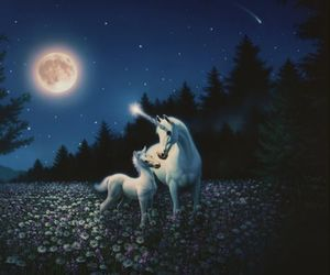bedtime, story, and unicorn image