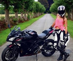 motorbike and bikergirl image