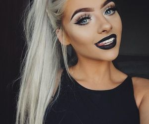 makeup, black, and style image