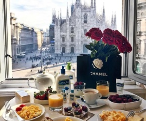breakfast, chanel, and food image