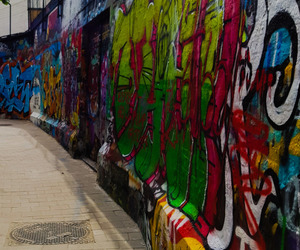 city, grunge, and colors image