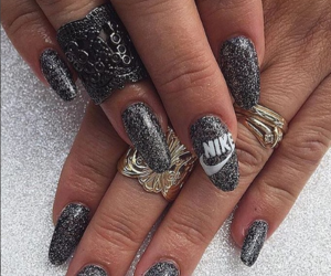 details, fashion, and gray nails image