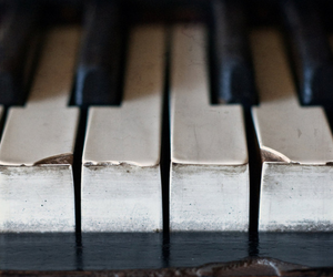 piano, music, and old image