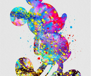 colors, mickey, and ❤ image