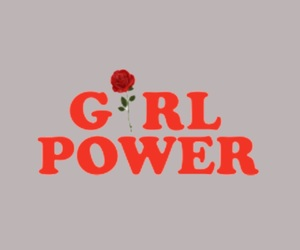flower, girl, and power image