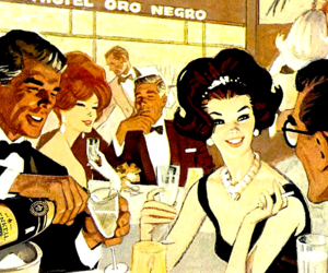 1960s, vintage advertising, and vintage party image