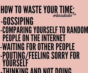 quotes, bossbabe, and goals image