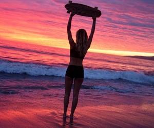 beach, board, and skate image