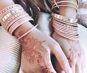 bollywood, dress, and henna image