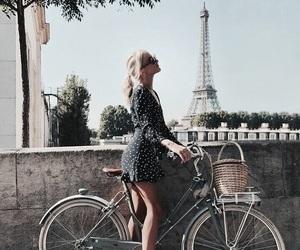 girl, bike, and france image