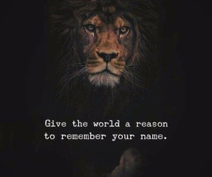 give, lion, and name image