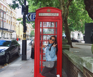 london, uk, and red phone booth image