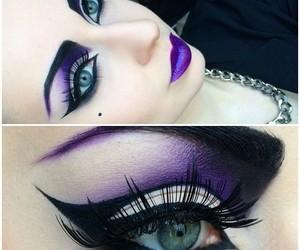 beauty, dark, and eyeshadow image