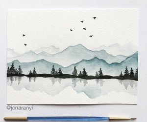 birds, concept, and mountains image