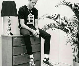 g-eazy, b&w, and rapper image