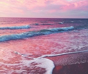 ocean, pink, and sea image