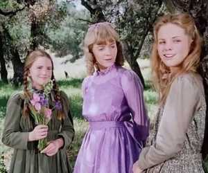 little house on the prairie, purple, and tv image