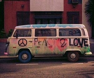 colors, combi, and hippie image