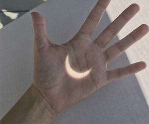moon and hand image