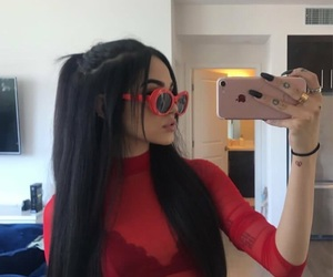 maggie lindemann, red, and Maggie image