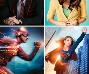 glee, Supergirl, and the flash image