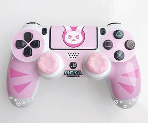 pink, videogames, and playstation image