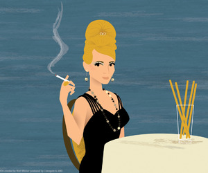 Betty Draper, season 3, and illustrator image