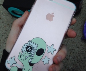 aesthetic, alien, and apple image