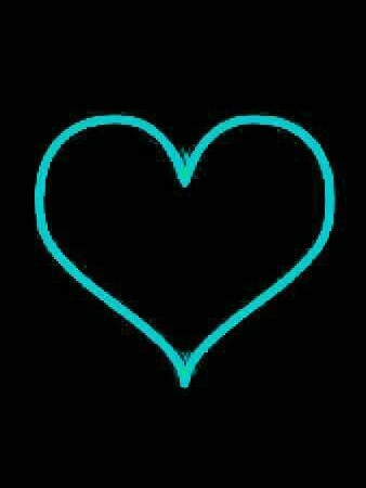 black, blue heart, and heart image