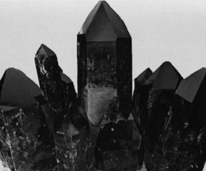black, crystal, and grunge image