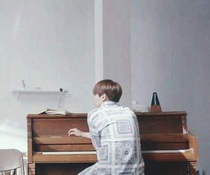 bts, suga, and piano image