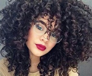 hair, curly hair, and girl image