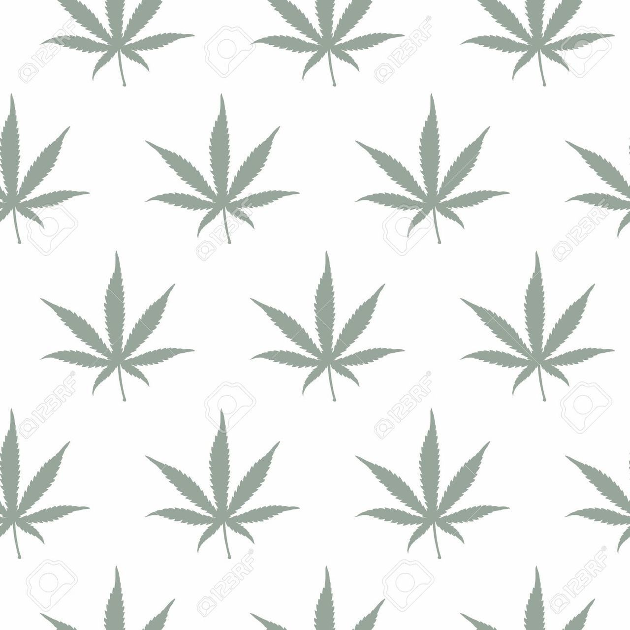 Grey Pot Leaf Wallpaper discovered by