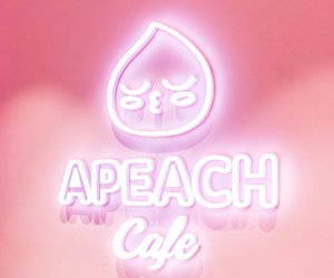 aesthetic, cafe, and peach image