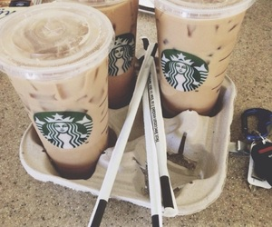 coffee, starbucks, and but first coffee image