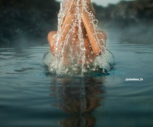 water, girl, and photography image