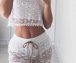 tops, white, and white top image