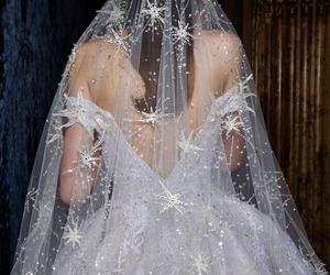 bridal, dress, and beauty image
