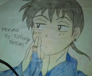 anime, miroku, and inuyasha image