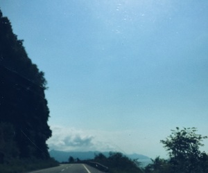 blue, roadtrip, and clouds image