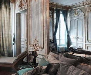 bed, luxurious, and luxury image
