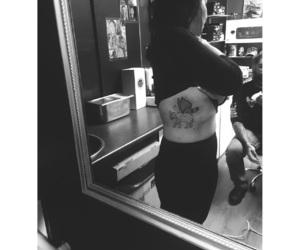 elephant tattoo, animal tattoos, and black and white tattoos image