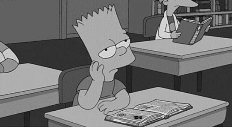 bart, simpsons, and school image