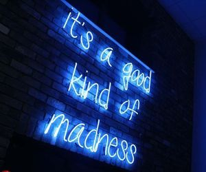 quotes, neon, and madness image