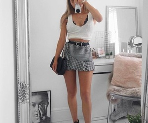 bedroom, casual, and skirt image