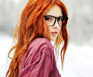 glasses, hair, and redhead image