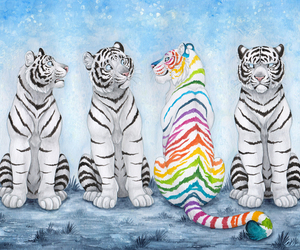 animals, art, and colors image
