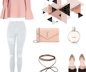 girly, outfit, and pink image