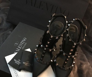 shoes, Valentino, and black image