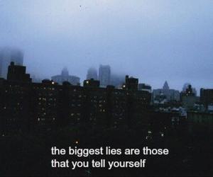 quotes, lies, and sad image